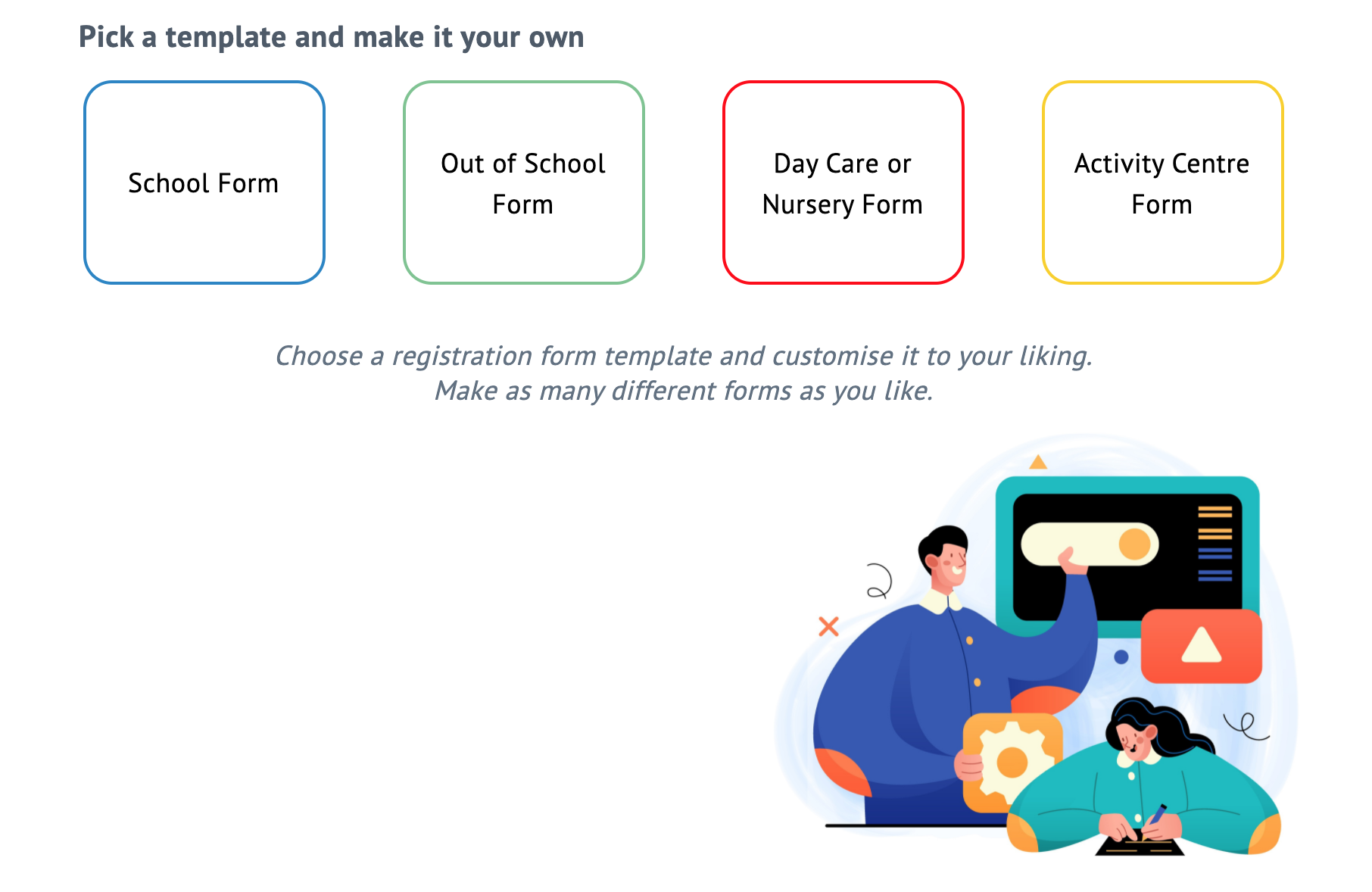 Online Registration System for for Schools and Childcare Centres #CheqForm