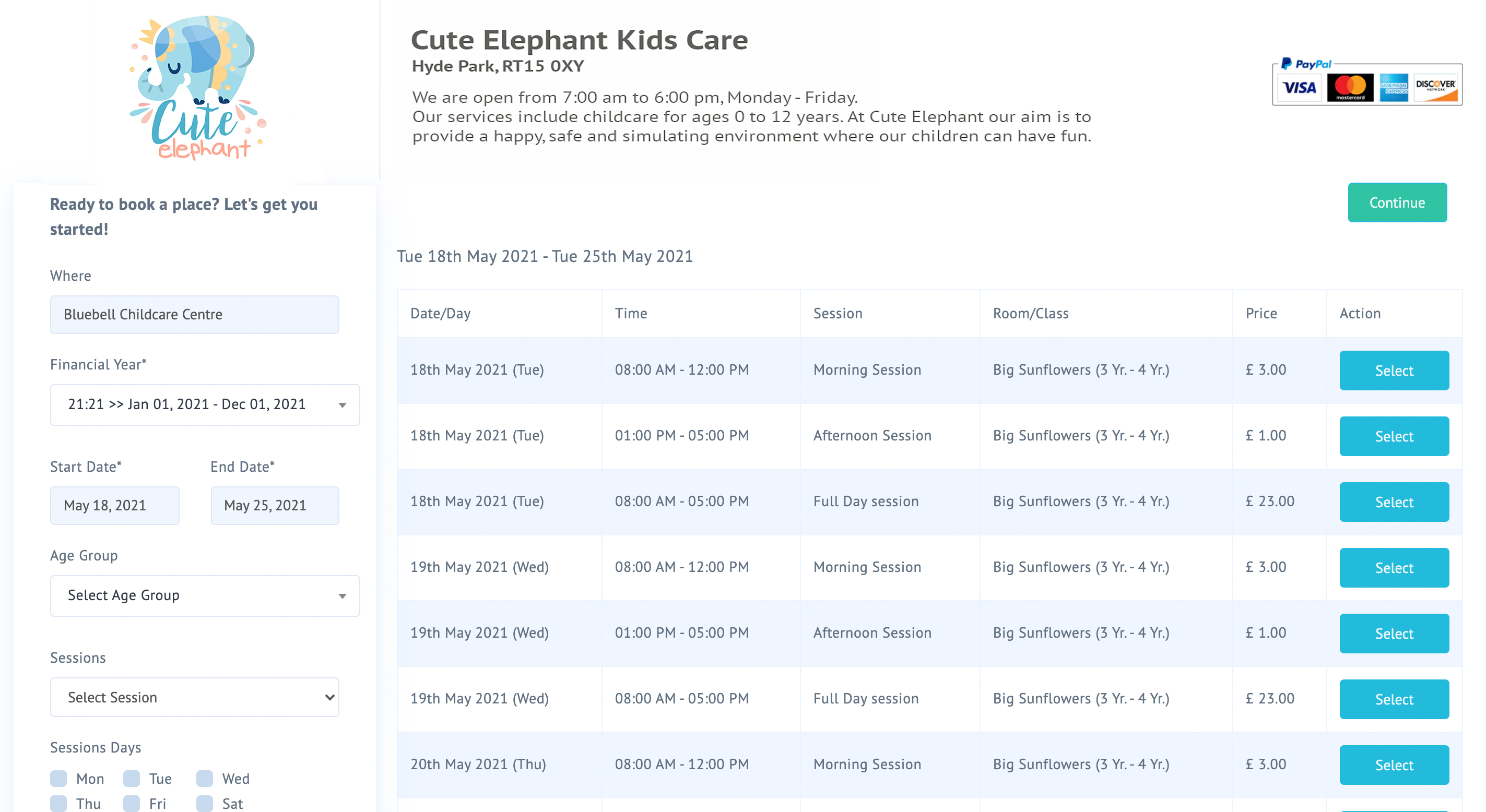 Easy online booking system for childcare providers #CheqBook