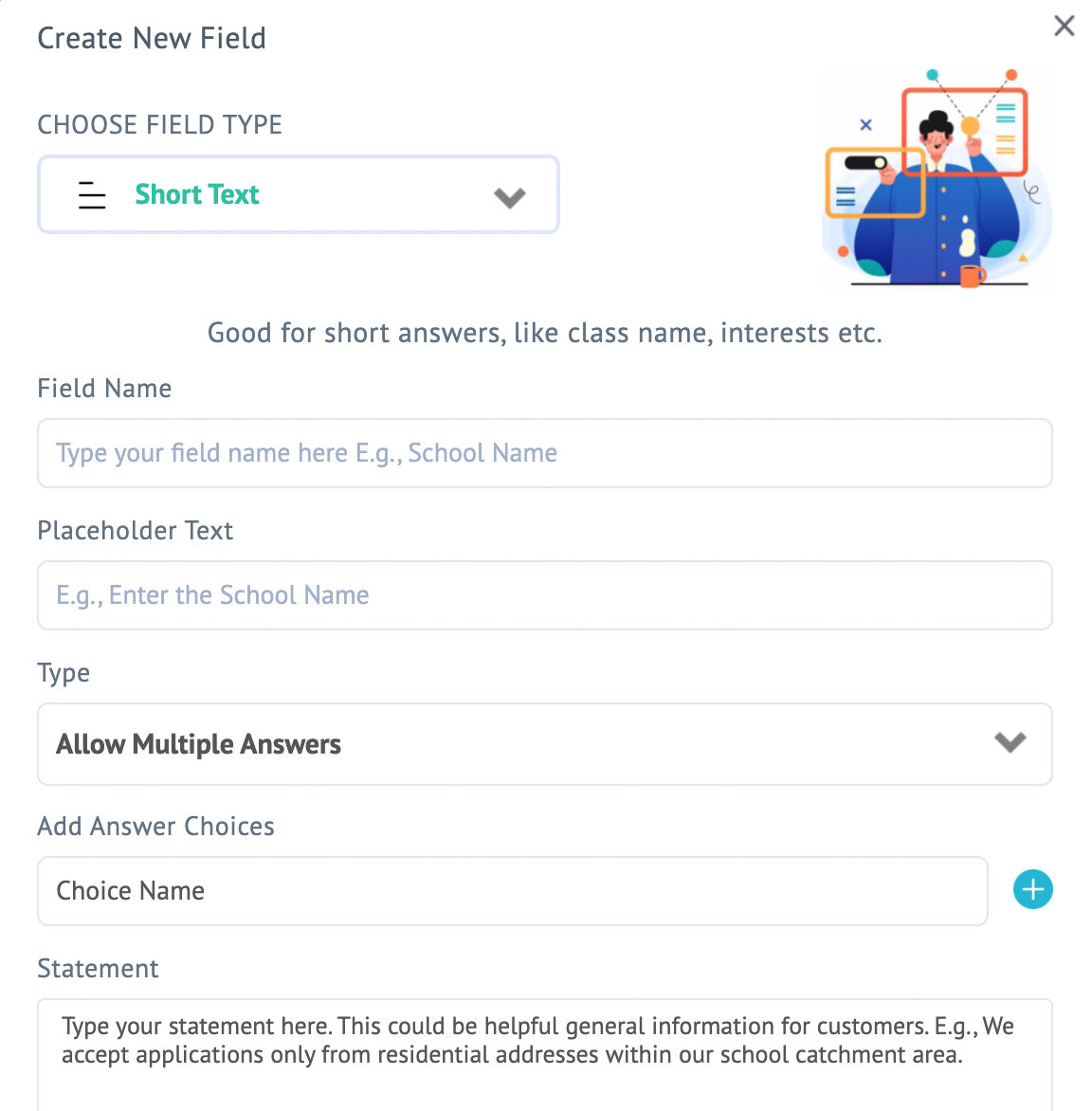 Turn registrations into an experience - Create custom field