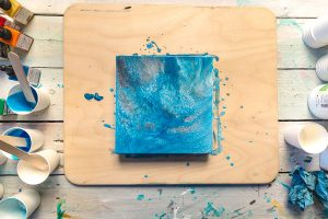 Acrylic Pouring - - Cheqdin Crafting Ideas for Holiday Clubs