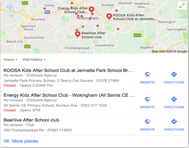 Getting your after-school club listed with google my businesses