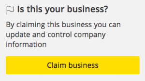 Claim your business when listing with business directories