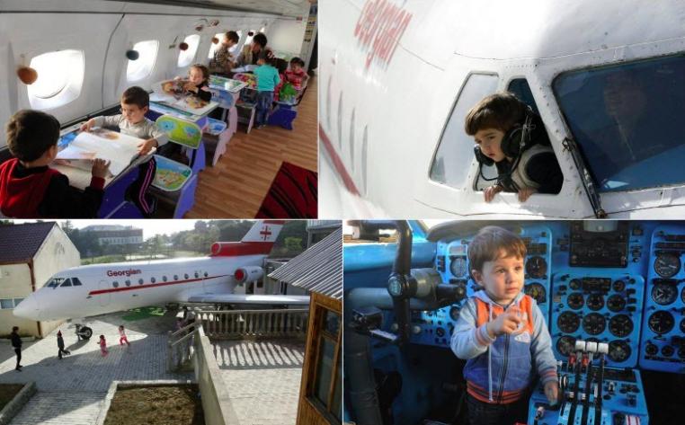 Aeroplane turned Kindergarten and nursery school, Georgia