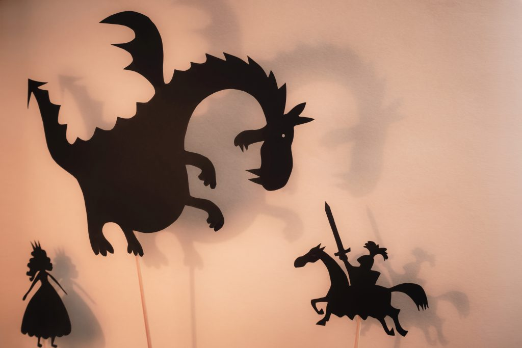 Shadow puppets for playful storytelling