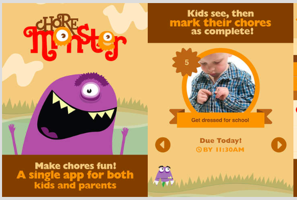 Choremonster app for busy parents