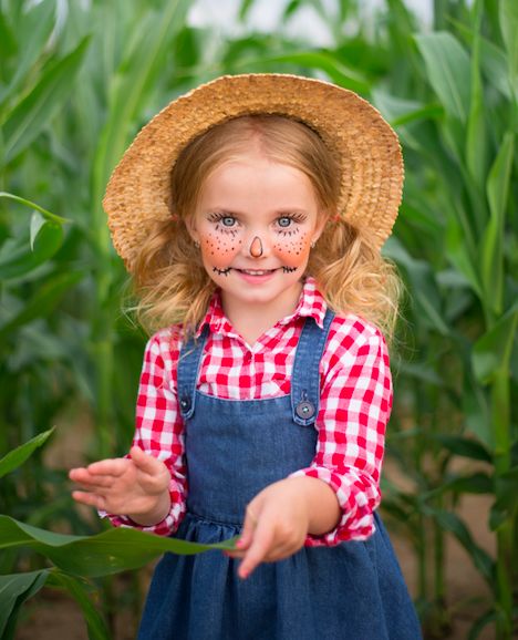DIY scarecrow halloween outfit for kids